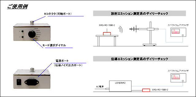 放射・伝導ノイズ コムジェネレーター(ネクステム株式会社)ご使用例
