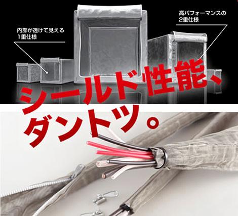 繊維に金属箔をカバーリングした特殊な金属糸から生産